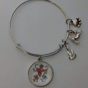 Jewelry - Disney The Aristocats Silver Bangle Bracelet